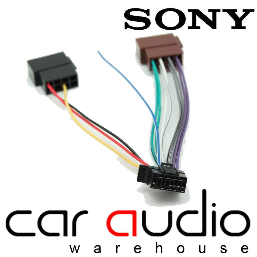 medium resolution of details about sony 16 pin iso head unit replacement car stereo wiring harness lead ct21so02