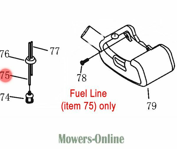 Mitox Fuel Line Pipe (from fuel filter to carburettor