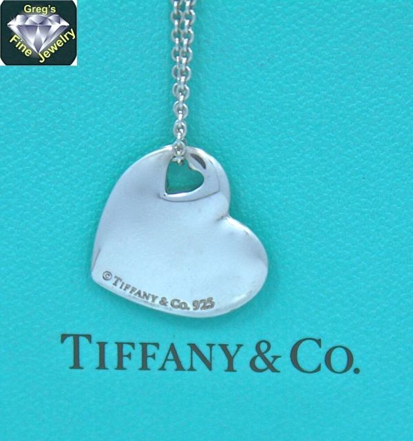 Tiffany & Sterling Silver Pierced Two Heart Hearts