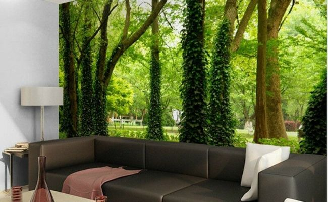 Green Forest Nature Landscape Wall Paper Wall Print Decal