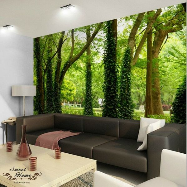Green Forest Nature Landscape Wall Paper Print Decal