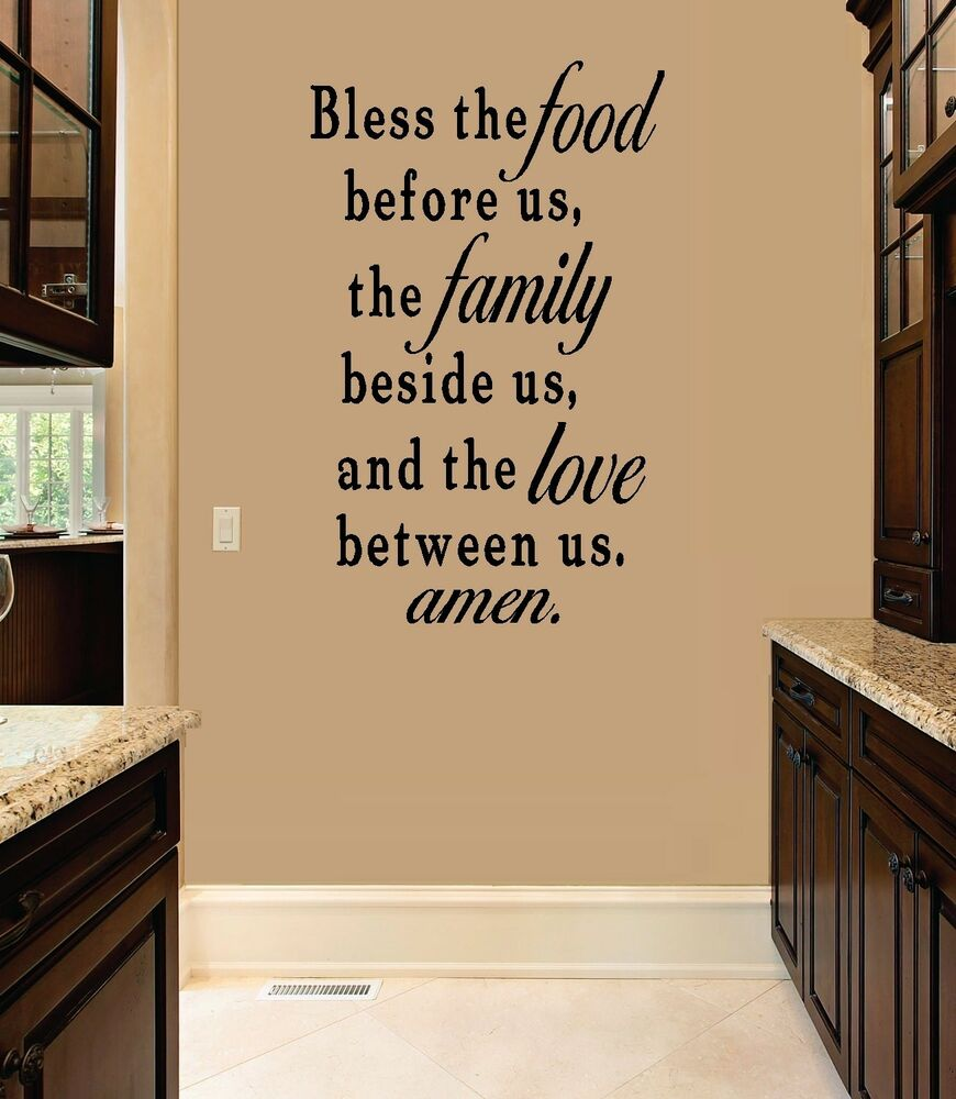 Bless the Food before us ~ Wall Decal