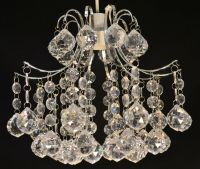 CHANDELIER NON ELECTRIC LIGHT SHADE CLEAR ACRYLIC CRYSTAL ...