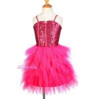 Glitz Sequins Tulle Dress Flower Girl Pageant Occasion ...