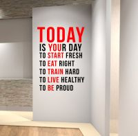 TODAY IS YOUR DAY Gym Motivational Wall Decal Quote ...