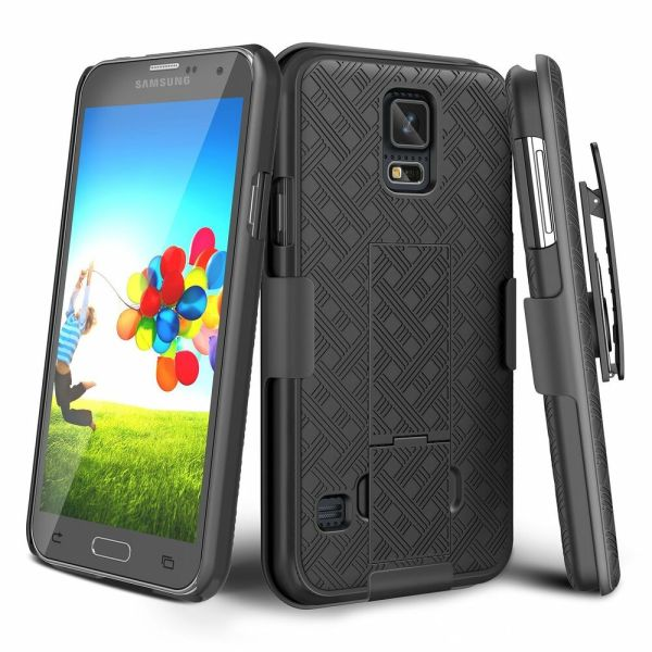 Samsung Galaxy S5 Belt Clip Holster Combo Cell Phone Case