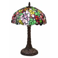 "TIFFANY STYLE TABLE LAMP 18"" EMBOSSED GRAPE DESIGN 12 ..."