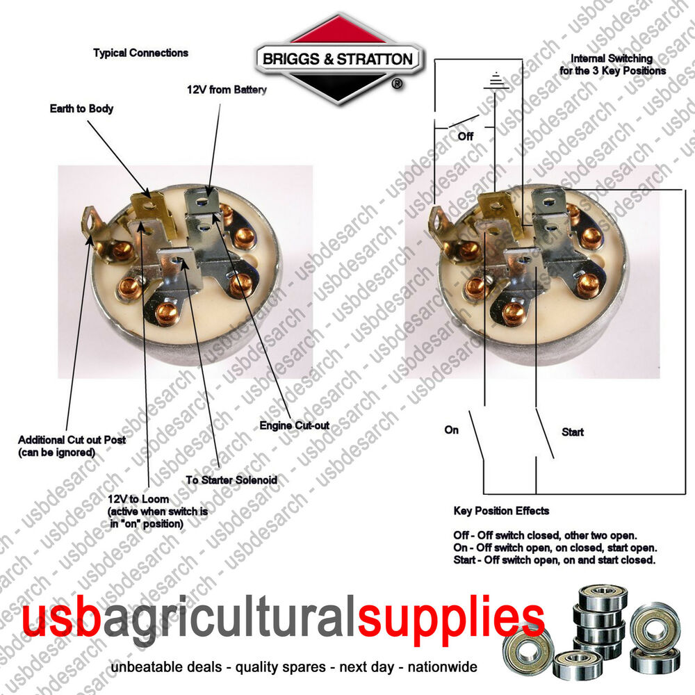 medium resolution of s l1000 ignition switch genuine briggs stratton 692318 next day delivery briggs