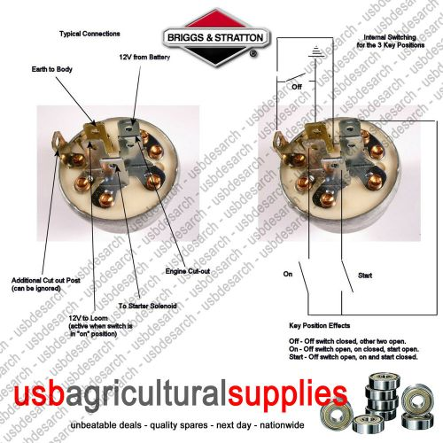 small resolution of s l1000 ignition switch genuine briggs stratton 692318 next day delivery briggs