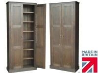 """Solid Pine Cupboard, 6ft 6"""" Tall Pantry, Linen, Kitchen ..."""