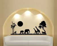 Safari Scene Silhouette ~ Wall Decal | eBay