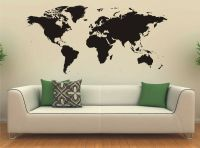 World Map Wall Art Sticker Vinyl Decal Large