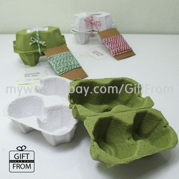 Egg Cartons 2 Capacity Paper Tray Easter