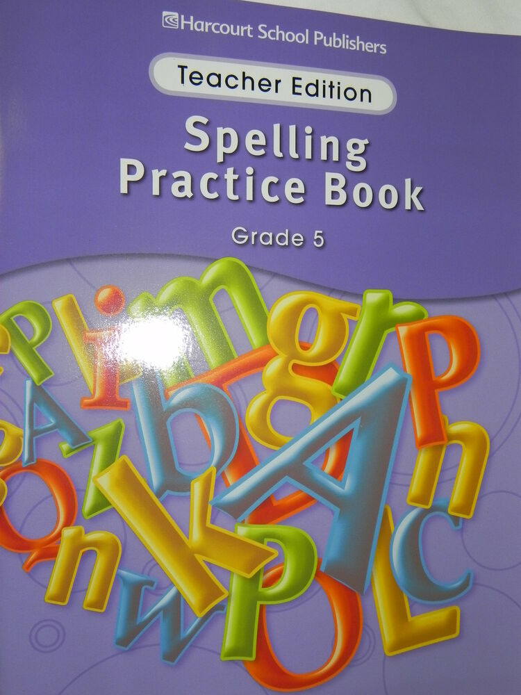 Harcourt Storytown Spelling Practice Book Teacher Edition 5th Grade Level 5 153499060  Ebay