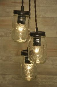 Mason Jar Chandelier Oil Rubbed Bronze Pendant Light