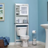 Sauder Bath Over the Toilet Shelf Cabinet Bathroom Free