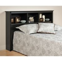 Prepac Black Full / Queen Bookcase Headboard