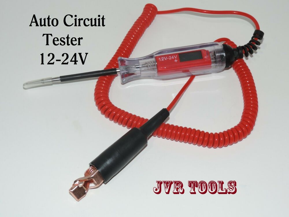 12 24 Volts Electirc Voltmeter Auto Circuit Tester Electrical Test Lcd