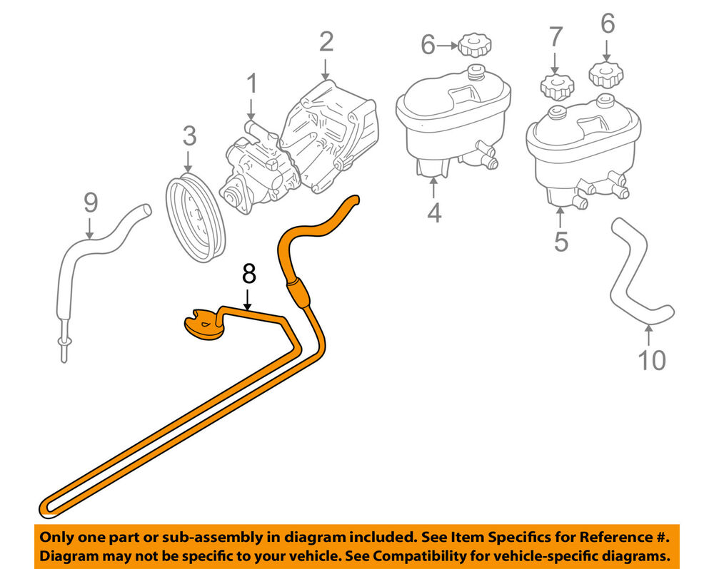 20042006 Factory Parts Diagrams Power Steering Hoses Pump Assembly