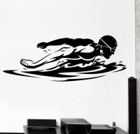 Wall Sticker Sport Swim Swimming Swimmer Butterfly Stroke