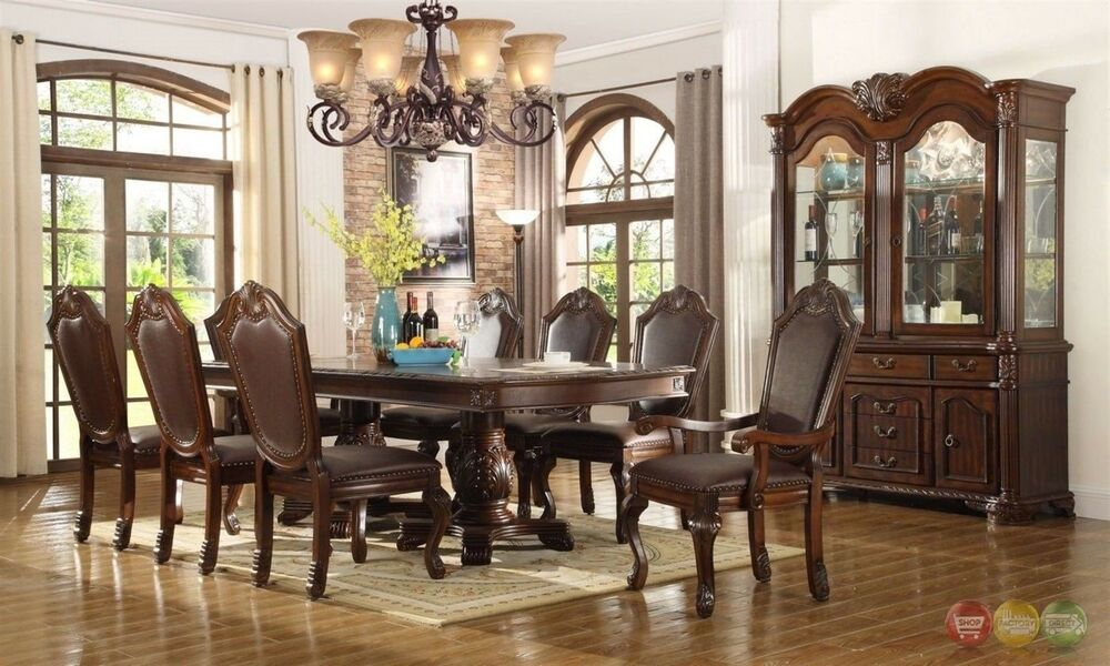 Chateau Traditional 9 Piece Formal Dining Room Set Table