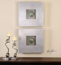 NEW SET OF TWO ABALONE SHELL SHADOW BOX DECORATIVE WALL ...