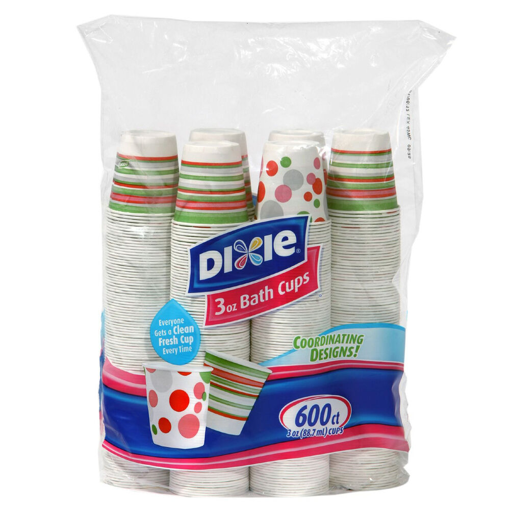 Dixie Bathroom Cold Drink Poly Lined Paper Bath Cup 3 oz