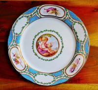 Faux China TIN Dinner Plate Madame Du Barry Royal ...