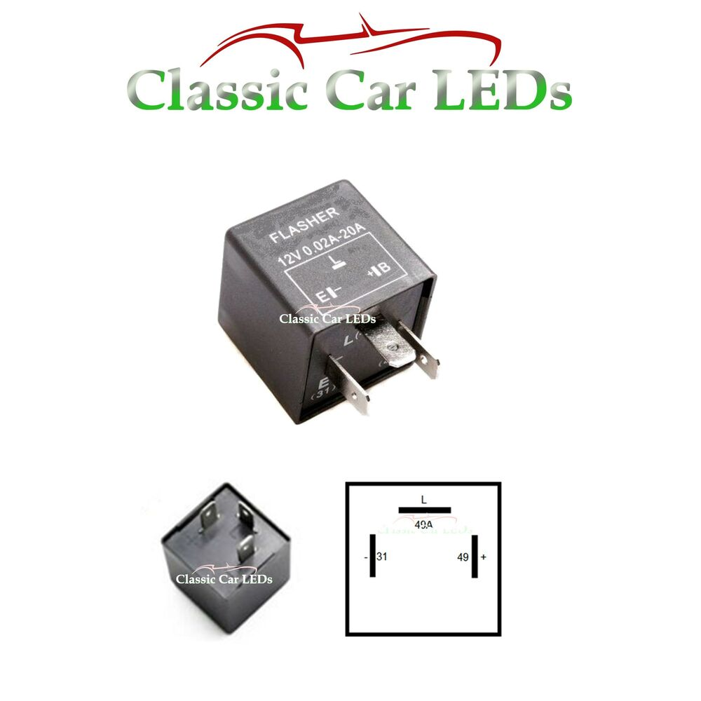hight resolution of 12v electronic indicator flasher relay for classic cars with oe clicking sound ebay