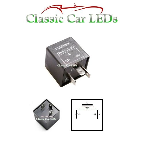 small resolution of 12v electronic indicator flasher relay for classic cars with oe clicking sound ebay