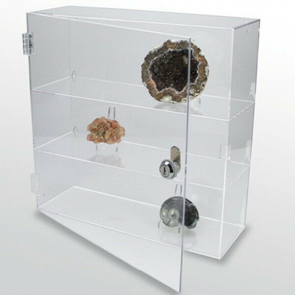 rock collection display case acrylic