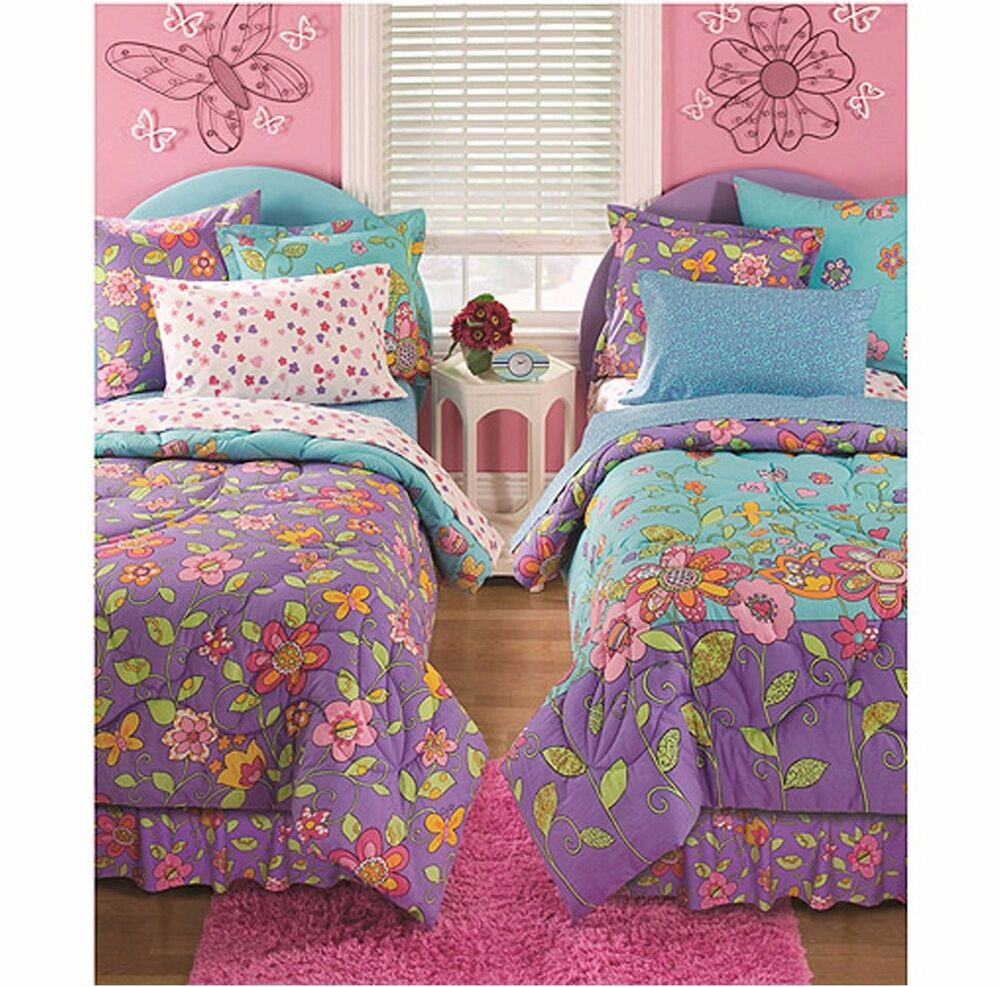 Colorful Bedding Set Reversible 2 Faces Complete Children Twin Full Size Kids  eBay