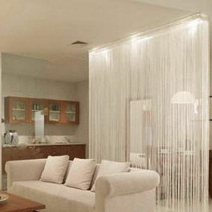 Decor White String Curtains Patio Net Fringe Door Fly