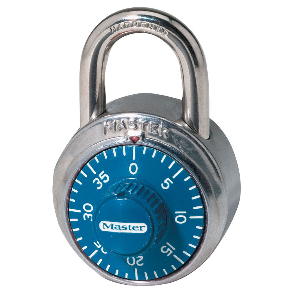 Master Lock 1506D Combination Padlock with Blue Dial  eBay
