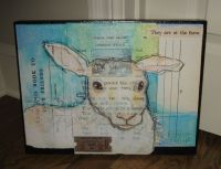 LAMB Sheep Wall Picture*Primitive/French Country Farmhouse ...