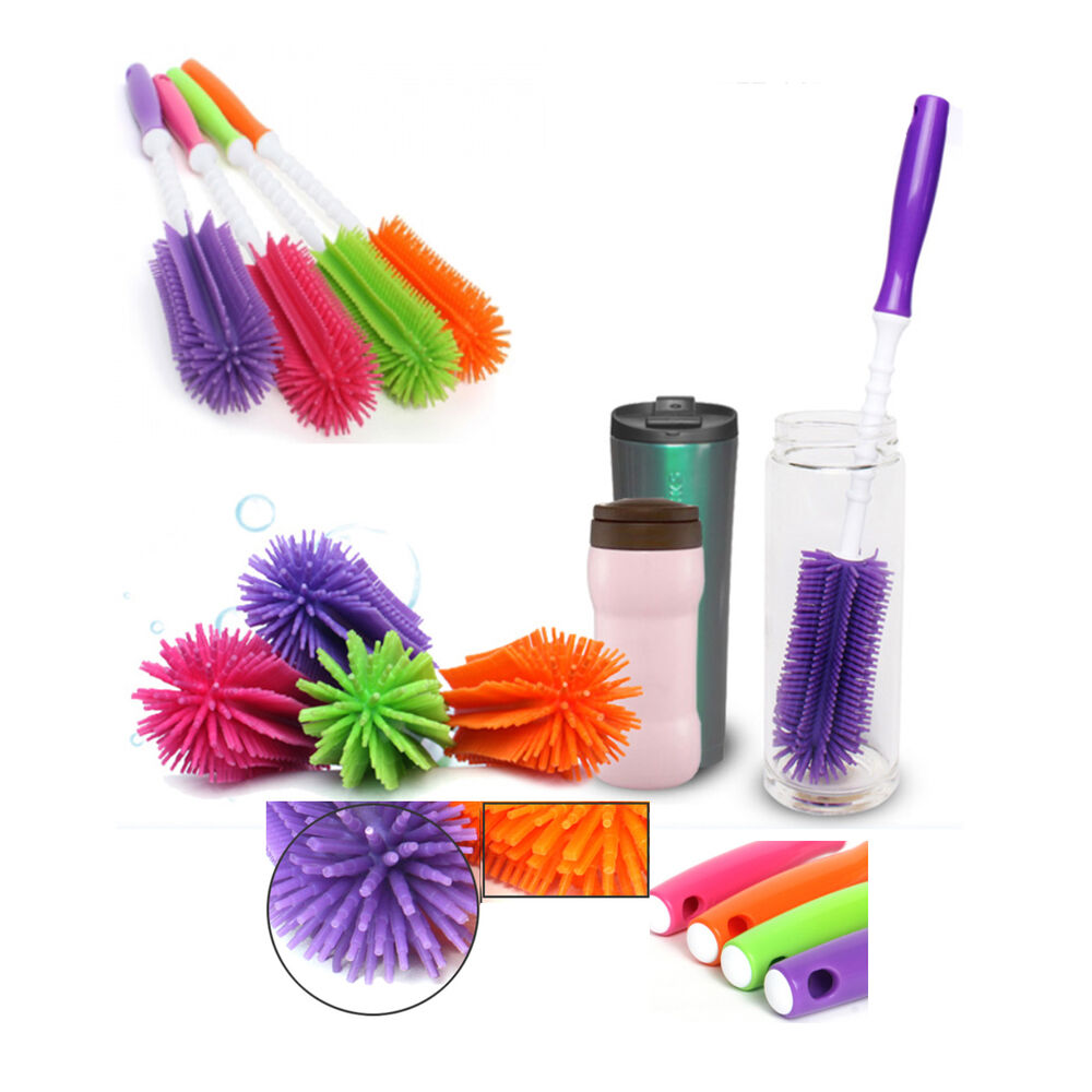Korea Silicone Water Bottle Wash Brush Kitchen Cleaning