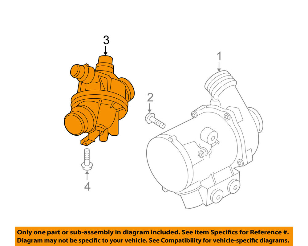 medium resolution of details about bmw oem 11 13 x5 engine coolant thermostat housing 11537601158