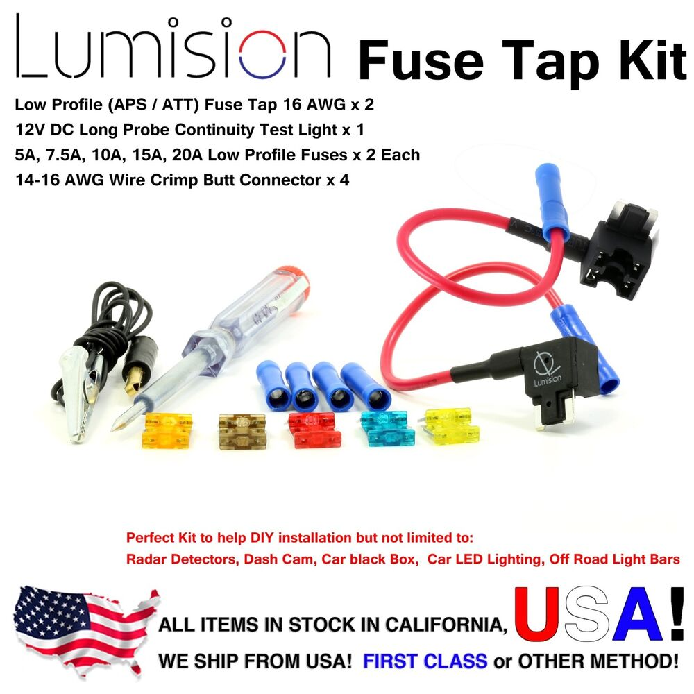 hight resolution of add a circuit low profile aps att fuse tap kit fuses boat tester dash