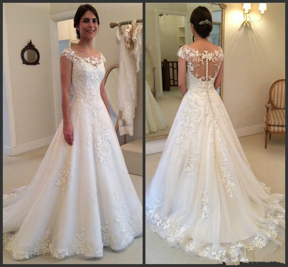 New WhiteIvory Ball Gown Wedding Dresses Bridal Gowns