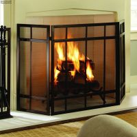 Mission Style Fireplace Screen Cover Free Standing Mesh ...