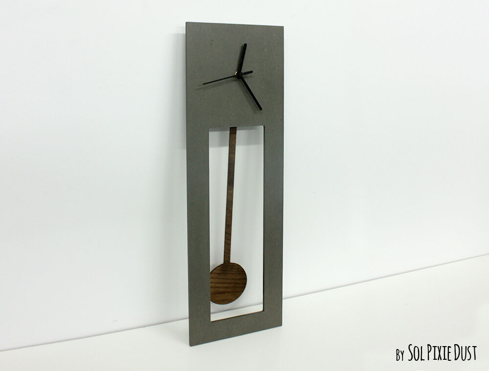 Bluntly Concrete And Wood Wall Clock