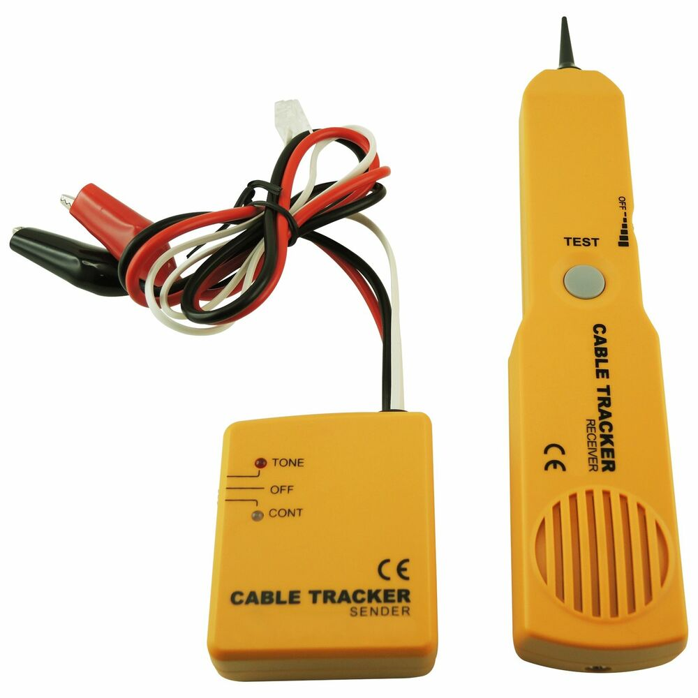 medium resolution of details about cable tracker wire tracer telephone line tester continuity single dual tone test