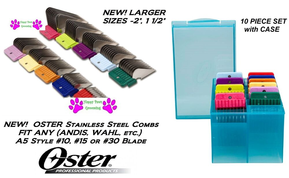 OSTER A5 STAINLESS STEEL ATTACHMENT GUIDE COMB SET*Fit