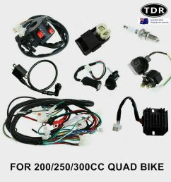 all electrics full kit coil cdi harness zongshen loncin 250cc hummer atomik atv 8291985523475 ebay [ 1000 x 1000 Pixel ]