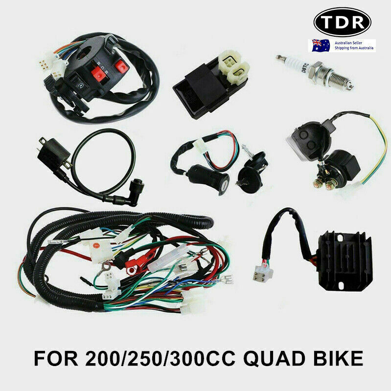 medium resolution of all electrics full kit coil cdi harness zongshen loncin 250cc hummer atomik atv 8291985523475 ebay