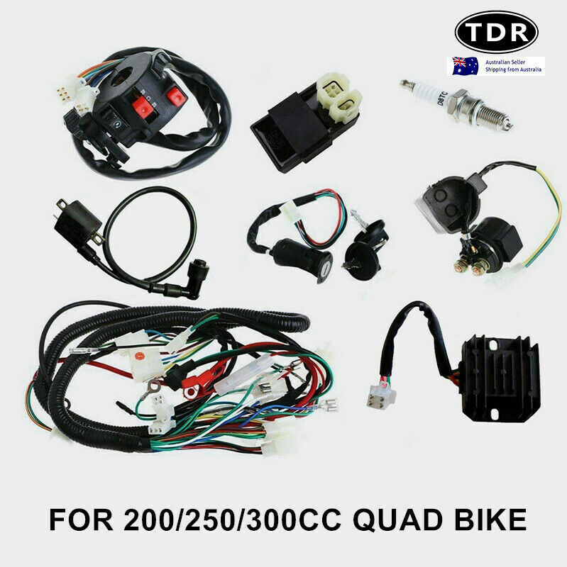 hight resolution of all electrics full kit coil cdi harness zongshen loncin 250cc hummer atomik atv 8291985523475 ebay
