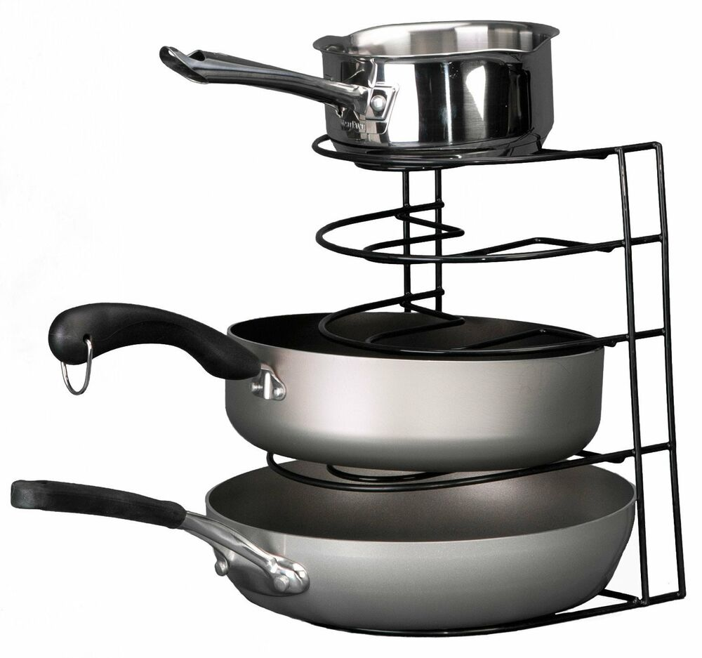 Kitchen Storage Skillet Organizer Pan Rack Skillet Kitchen