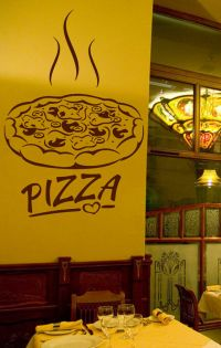 ik1066 Wall Decal Sticker Pizza Italian Restaurant ...