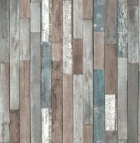 Fine Decor Faux Natural reclaimed Wood Plank Effect ...