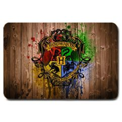 Washable Kitchen Rug Floor To Ceiling Cabinets New Hogwarts Logo Harry Potter Non Slip Machine ...